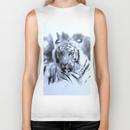 Animals and Art - Tiger Biker Tank