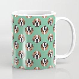 St Benard in Green Coffee Mug