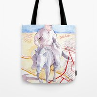 dallas Tote Bags featuring Dallas, Texas by Howard Coale