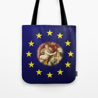 europe Tote Bags featuring Europe by Turul