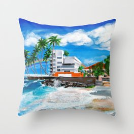 Isla Verde - $1M View, Carolina, San Juan, Puerto Rico Throw Pillow