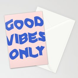 good vibes only XII Stationery Cards