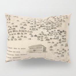 Vintage Library Map of Massachusetts (1904) Pillow Sham