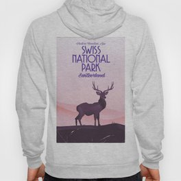 Swiss National Park vintage travel poster Hoody