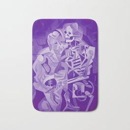 Halloween Skeleton Welcoming The Undead Bath Mat