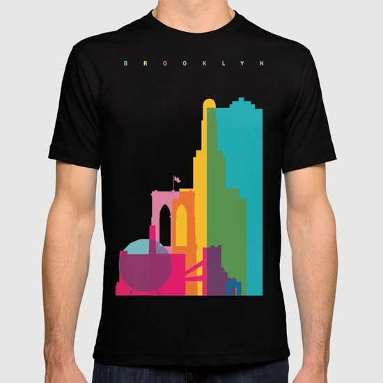 Shapes of Brooklyn. Accurate to scale T-shirt