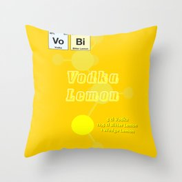 Vodca Lemon Throw Pillow