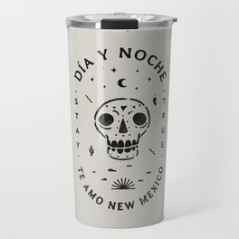 """Te Amo New Mexico"" sugar skull badge (day) Travel Mug"