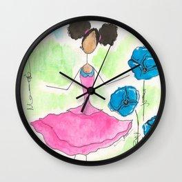 Tia Skipping So Happy Wall Clock