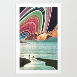 Saturn Strobe Art Print