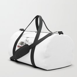 White and Red Helicopter Duffle Bag