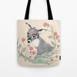 The deer from the forest Tote Bag