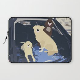 There once was a dog road-trip Laptop Sleeve