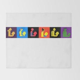 Readers Assemble vol. 1 Throw Blanket