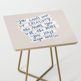 creativity quote Side Table