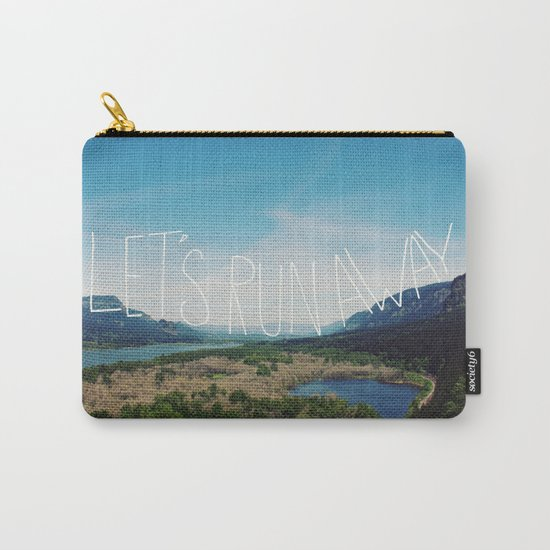 Let's Run Away: Columbia Gorge, Oregon Carry-All Pouch