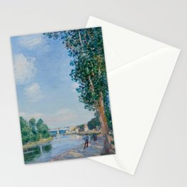 Alfred Sisley - Saint-Mamms June Sunshine Stationery Cards