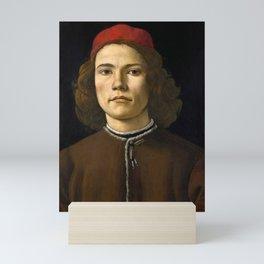 "Sandro Botticelli ""Portrait of a Young Man"" (II) Mini Art Print"