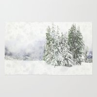 snowboarding Area & Throw Rugs featuring Winter Fresh by Pure Nature Photos