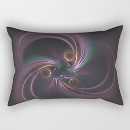 Moons Fractal in Warm Tones Rectangular Pillow