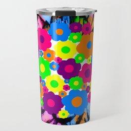 Retro Flower Puff Balls Travel Mug