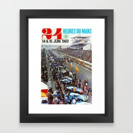 1969 Le Mans poster, Race poster, Car poster, vintage poster Framed Art Print