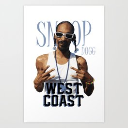 Snoop Dogg // West Coast Art Print