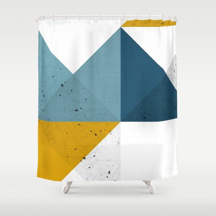 Modern Geometric 19 Shower Curtain