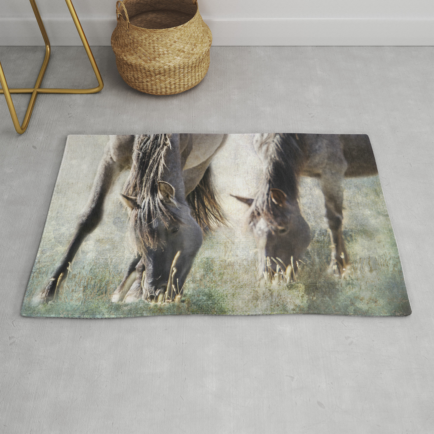 Grazing On Light And Freedom Rug By Belindagreb