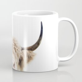 Peeking Highland Cow Coffee Mug