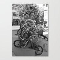 bikes Canvas Prints featuring Bikes by DarkMikeRys