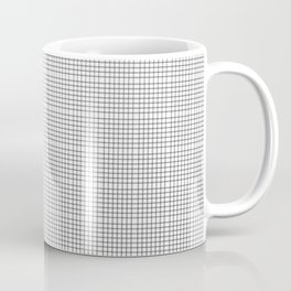 black white noir blanc squares stripes Coffee Mug