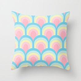 Rainbow Scales - Pastel Throw Pillow