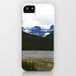 Stutfield Glacier along the Icefields Parkway  in Jasper National Park, Canada iPhone Case