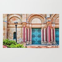 college Area & Throw Rugs featuring Finney Chapel, Oberlin College. by Mary Timman