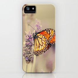 Butterfly, lavenders, and beauty iPhone Case