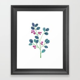 Forest twig dipped in purple Framed Art Print