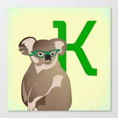 K for Koala Canvas Print