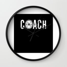 Coach Weight Lifter Fitness Toning Gym Wall Clock