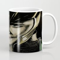 tom hiddleston Mugs featuring Tom Hiddleston by Goolpia