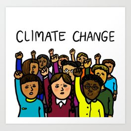 Activists Climate Change Art Print