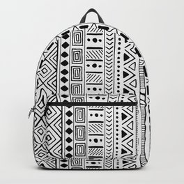 Hand Drawn African Patterns - Black & White Backpack