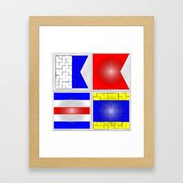 International maritime signal flags - A,B,C & D Framed Art Print