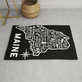 Maine Map  Rug