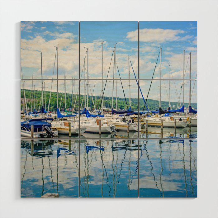 Glen Harbour Marina Wood Wall Art