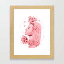 Old School Bill Kaulitz Red Framed Art Print