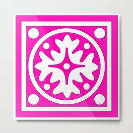 hot pink pattern Metal Print