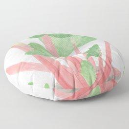 Red Rhubarb Floor Pillow