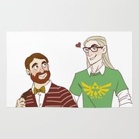 legolas Area & Throw Rugs featuring Hipster Legolas and Gimli by Nautilus Gifticus