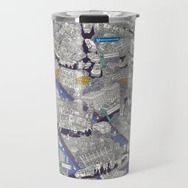 Illustrated map of Berlin-Mitte. Blue Travel Mug